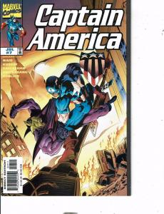 Lot Of 7 Captain America Marvel Comic Book #7 8 9 10 13 14 15 AB5