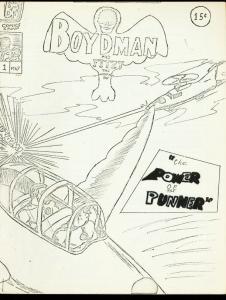 BOYDMAN AND FITZI #1-1967-BATMAN PARODY-FANZINE-RARE VG/FN