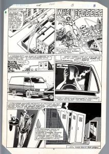 Avengers #264 Original Art Page 6- Buscema / Tom Palmer Wasp 1st Yellowjacket