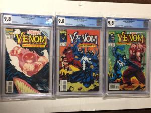 Venom The Madness 1 2 3 1-3 Cgc 9.8 White Pages