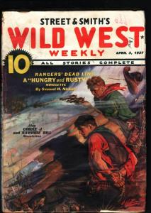 WILD WEST WEEKLY-4/3/1937-PULP-HUNGRY AND RUSTY-CIRCLE J-RAWHIDE BILL G/VG
