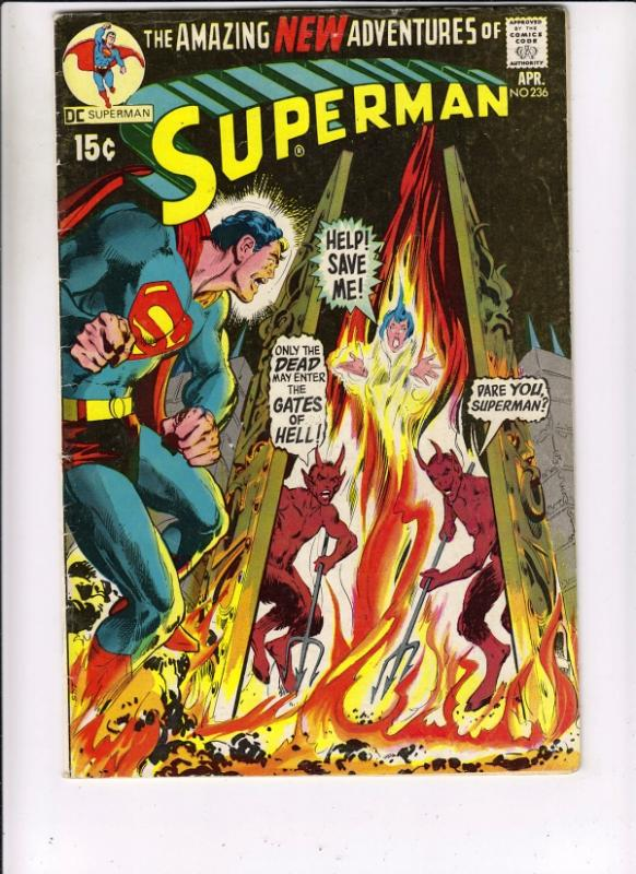 Superman #236 (Apr-71) FN Mid-Grade Superman, Jimmy Olsen,Lois Lane