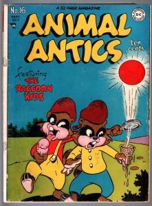 ANIMAL ANTICS #16-1948-RACCOON KIDS-ICE CREAM COVER-GOLDEN AGE DC-VG VG