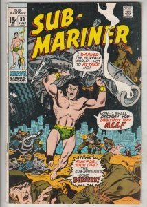 Sub-Mariner #39 (Jul-71) FN/VF High-Grade Sub-Mariner (Prince Namor)