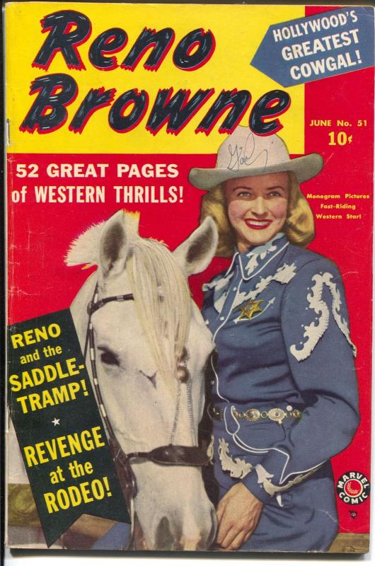 Reno Browne #51 1950-Marvel-photo cover-Possible Russ Heath art-VG-