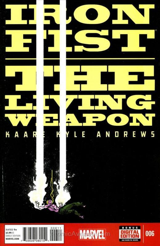 Iron Fist: The Living Weapon #6 VF; Marvel | save on shipping - details inside