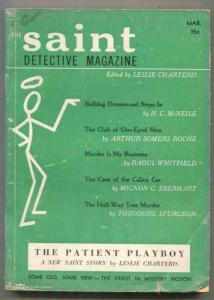 Saint Detective Magazine March 1956- Raoul Whitfield