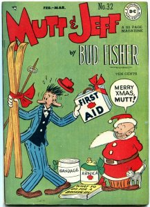 Mutt and Jeff #32 1947-Christmas cover- DC Golden Age- Bud Fisher VF