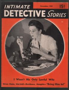 Intimate Detective Stories12/1942-crime investigation-violent-pulp thrills-FN/VF