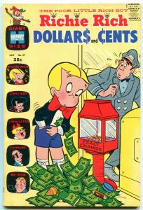 RICHIE RICH DOLLARS AND CENTS #37 1970-HARVEY COMICS