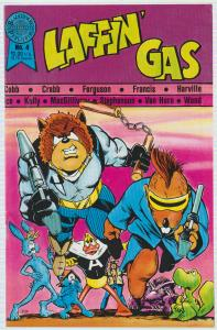 $.99 CENT SALE!, LAFFIN' GAS #4 UNDERGROUND COMIC, PURPLE SNIT, BAGGED BOARDED