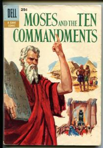MOSES AND THE TEN COMMANDMENTS #1 1957-DELL-GIANT-1ST ISSUE-HISTORIC-vg