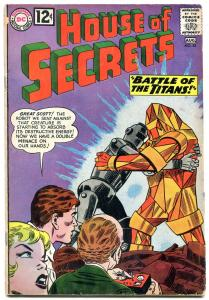 HOUSE OF SECRETS #55 1962- Battle of the Titans VG