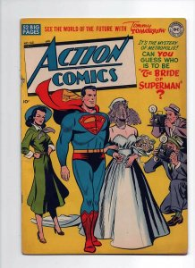ACTION COMICS 143, F/VF (7.0), 1950 DC COMICS, COOL COVER, GOLDEN AGE SUPERMAN