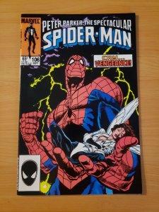 Spectacular Spider-Man #106 Direct Market Edition ~ NEAR MINT NM ~ 1985 Marvel