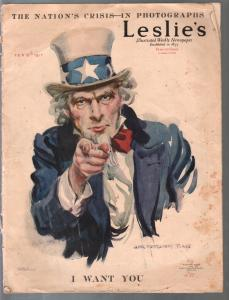 Leslie's Illustrated Weekly 2/15/1917-J. M.  Flagg I Want You cover-G/VG