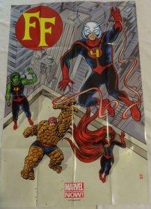 FF Promo Poster, 24 x 36, 2012, MARVEL, Unused 138 Fantastic Four Ant-man