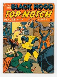 Top-Notch Comics (1939) #25 VG+ Black Hood, Kardak, Firefly, Wizard, Fran Frazer