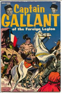 Captain Gallant #1 1955-Charlton-1st issue-Buster Crabbe TV series-VF