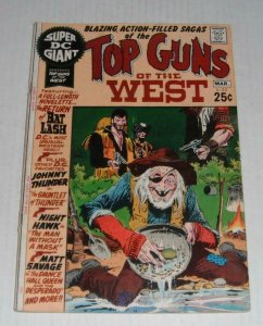 Super DC Giant TOP GUNS of the WEST #S-22, VG+, Gunfights, Sheriff, Western,1971
