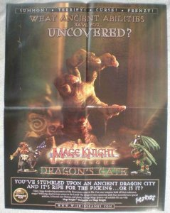 MAGE KNIGHT DUNGEONS Promo poster, 17x 22, 2003, Unused, Hand