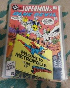 dc comics presents # 96 1986 DC SUPERMAN +BLUE DEVIL TERRA MAN