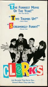 Clerks VHS  Director/Comic Book writer Kevin Smith's Directorial Debut !