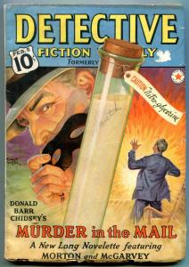 Detective Fiction Weekly Pulp February 5 1938- Murder in the Mail- Great cover