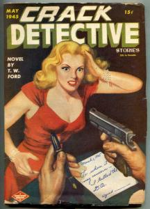 Crack Detective Pulp May 1945- Headlight cover VG