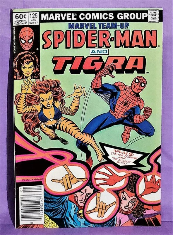 Marvel Team-Up #125 SPIDER-MAN and TIGRA Plus SCARLET WITCH (Marvel, 1983)!