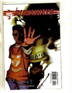 Lot Of 2 Runaways Marvel Comic Books # 2 & 3 NM 1st Prints Brian K. Vaughan SM8