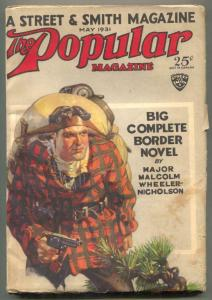 Popular Magazine Pulp May 1931- Tonto Kid- Rozen cover