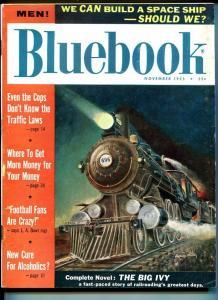 BLUE BOOK PULP-NOVEMBER-1955-FN-MILLER COVER-JOHN D MACDONALD-BALL-MCCAGUE FN