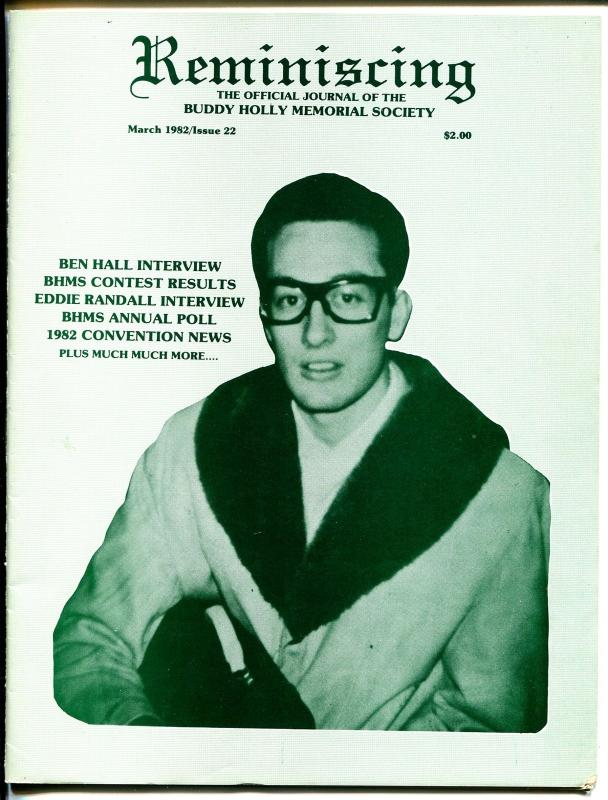 Reminiscing #22 1982-Buddy Holly Memorial Society-info-pics-FN