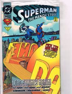 Lot of 9 Man of Steel DC Comics #30 38 39 40 41 42 43 44 45 46 Superman CB7