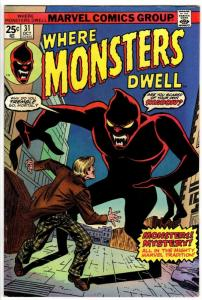 WHERE MONSTERS DWELL 31 FN  Oct. 1974