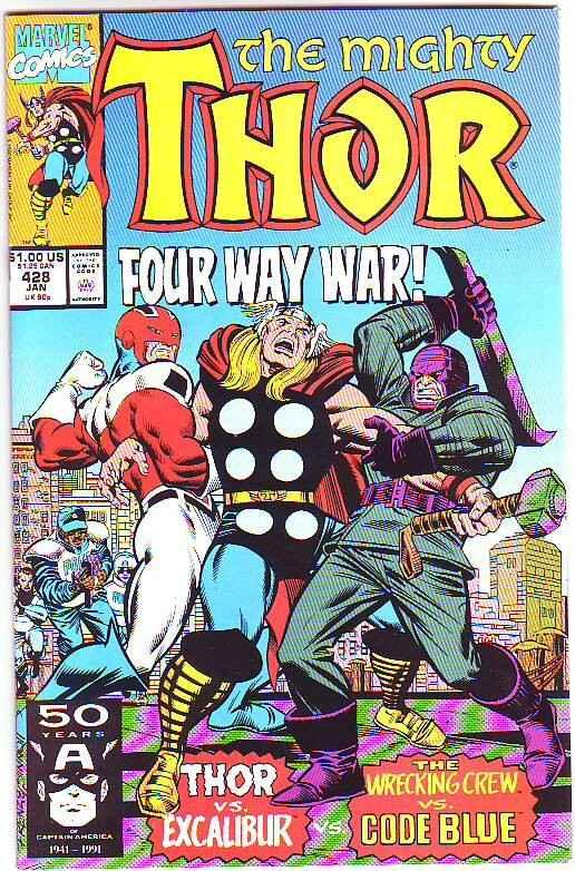 Thor, the Mighty Signed #428 (Dec-90) NM- High-Grade Thor
