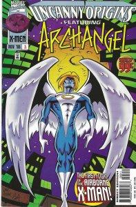 Uncanny Origins #3 (11-96) featuring Archangel - w/ Beast,Wolverine, X-Men, more