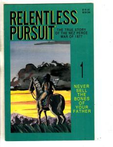 Lot Of 4 Relentless Pursuit Slave Labor Comic Books # 1 2 3 4 Nez Perce 1877 TP3