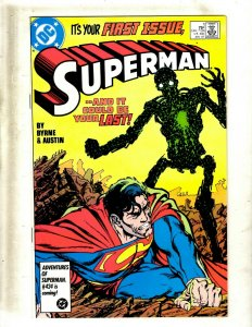 Lot of 12 Superman DC Comic Books #1 2 3 4 5 6 7 8 9 10 11 12 SB4