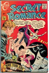 Secret Romance #8 1970-Charlton-busy cover art-fantastic poses-FN/VF