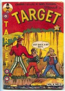 Target Comics v.4 #11 1944- TARGET and TARGETEERS- G