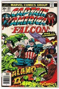 CAPTAIN AMERICA #203, VF+, Jack Kirby, Alamo, Falcon, 1968, more CA in store