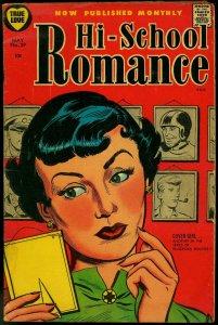 Hi-School Romance #39 1955- Harvey Comics- Cover Girl VG