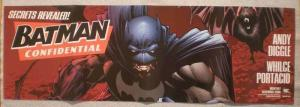 BATMAN CONFIDENTIAL Promo poster, 11x34, Unused, more in our store