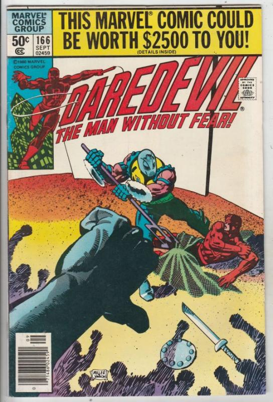Daredevil #166 (Sep-80) NM- High-Grade Daredevil