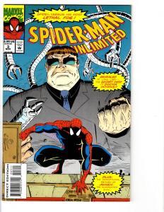 6 Spider-Man Unlimited Marvel Comic Books # 1 2 3 4 6 8