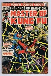 Master of Kung Fu #37 ORIGINAL Vintage 1976 Marvel Comics Shang Chi