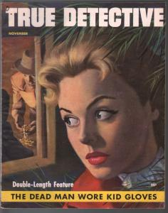 True Detective 11/1953-MacFadden-Good Girl Art-DL Cahmpion-pulp crime-FN