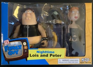 Nighttime Lois and Peter figures Family Guy 2005 Rare MIB